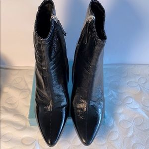 Zara Black Patent Finished Ankle Boots